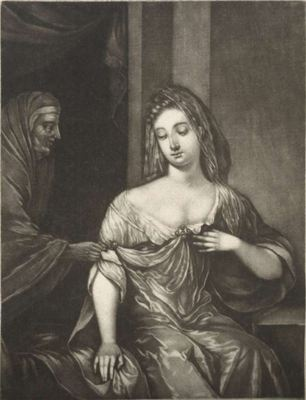 A young woman receives a letter from a procuress, by Schenk (1690 c.)