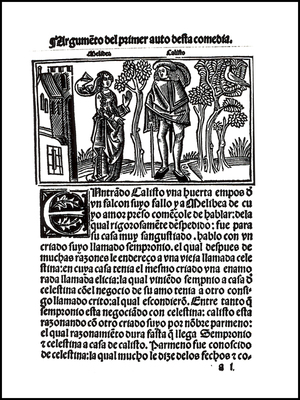 Cover of the Burgos edition, 1499.