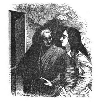 Dona Ortiz, celestinesque character in Gil Blas, Barcelona edition (1840)