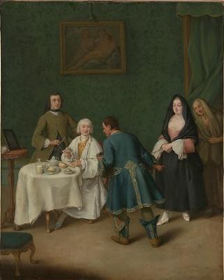 La tentación, de Longhi (1746)