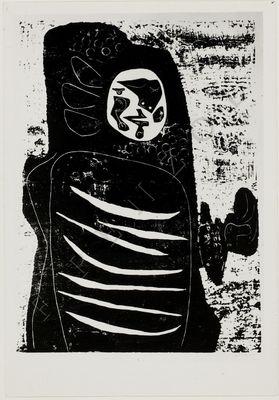 La Celestina, engraving by Seoane (1950, c.)