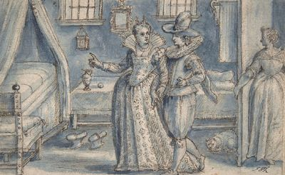 Study for an engraving in the Hortus Voluptatum, by de Passe (1599)