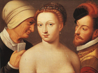 The Love Letter (Le billet doux), by Clouet (c. 1570).