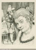 Portrait of a Matchmaker (Portrait einer Kupplerin), by Baluschek (1923).