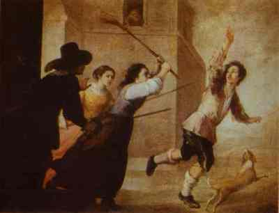 The Prodigal Son Driven Out, by Murillo (1660s, c.)