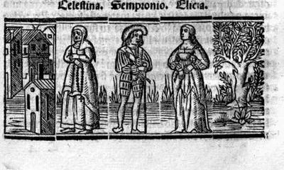 Engraving from act III from the Seville edition (1523)