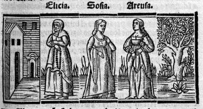 Engraving from XVII from the Seville edition (1523)