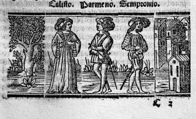 Engraving from act II from the Seville edition (1523)