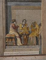 Matchmaker from Greek comedy on a mosaic (2nd century B.C.)