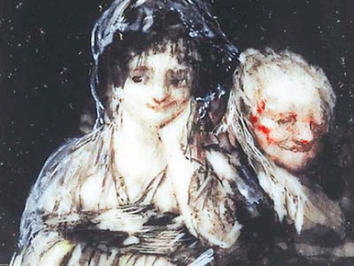 Celestina and Young Woman (Celestina y maja), by Goya (1824)