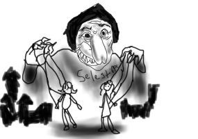 La Celestina, caricature, by BibomaniaOtakulover (sic) (2010)