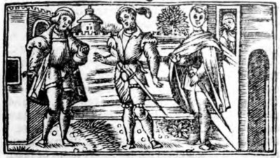 Illustration of act II from the Zaragoza edition (1545)