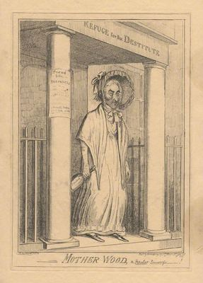 Madre Wood, la alcahueta popular, de Cruikshank (1820)
