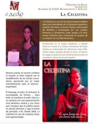 Representación del Teatro Aedo, Sevilla, 2016-2017