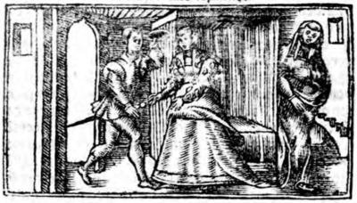 Illustration of act XVII from the Zaragoza edition (1545)