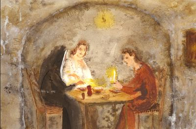 Areúsa, Pármeno and Celestina, by Acedo (2008 c.)