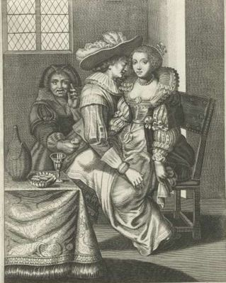 The procuress, by de Isaac (1627 c.)