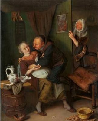 La alcahueta, de Brakenburgh (1680)