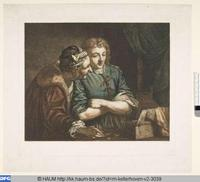 Matchmaker and Young Man (Alcahueta y hombre joven), engraving (1794) based on Bartolomeo Manfredi's painting (1582-1622).