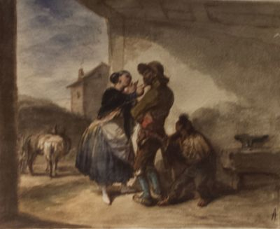 Caressed and Pick-pocketed by Alenza (1838, c.)
