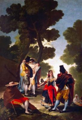 Paseo por Andalucía o La maja y los embozados, de Goya, (1777)