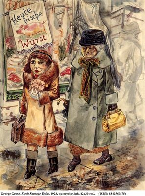 Today Fresh Sausage, by Grosz (1928)