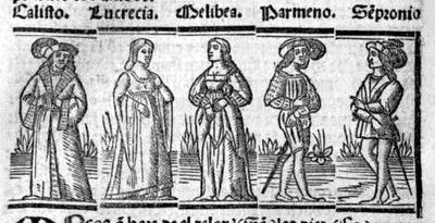 Engraving from act XII from the Seville edition (1523)