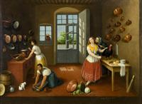 <br /> <br /> Puebla kitchen (La cocina poblana), by Arrieta (1863)<br /> <br />