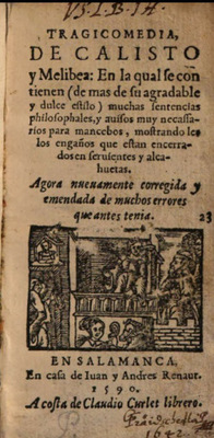Cover of the Salamanca edition, 1590.