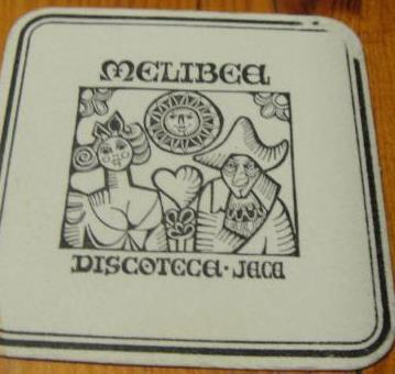 Coaster from Melibea club, Jaca, Spain (circa 2000)