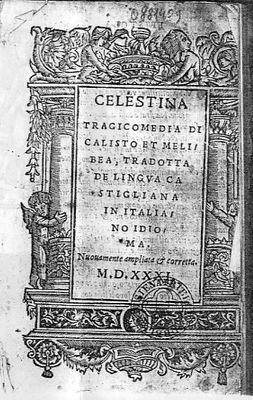Cover of the Venecia edition, 1531.