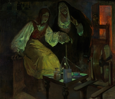 Witchcraft, by Garza y Bañuelos (1912, c.)