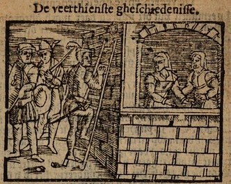 Illustration of act XIV of the Antwerp edition (1616)