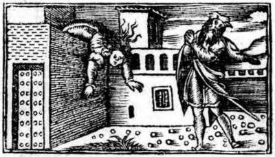 Second illustration of act XX from the Zaragoza edition (1545)