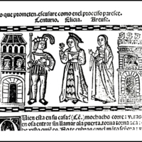 Engraving of act XVIII from the Valencia edition (1514)