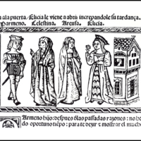 Engraving of act VII from the Valencia edition (1514)