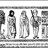 Engraving of act XVII from the Valencia edition (1514)