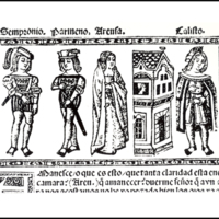 Engraving of act VIII from the Valencia edition (1514)