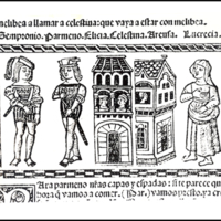 Engraving of act IX from the Valencia edition (1514)