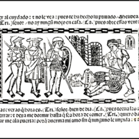 Engraving of act XIII from the Valencia edition (1514)