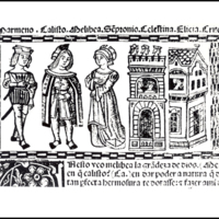 Engraving of act I from the Valencia edition (1514)