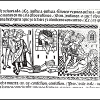 Engraving (second) of act XII from the Valencia edition (1514)