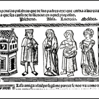 Engraving of act XVI from the Valencia edition (1514)