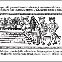 Engraving (first) of act XIX from the Valencia edition (1514)
