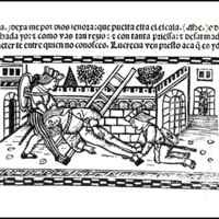 Engraving (second) of act XIX from the Valencia edition (1514)