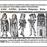 Engraving of act XI from the Valencia edition (1514)