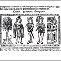 Engraving of act II from the Valencia edition (1514)