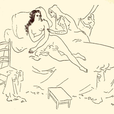 First illustration from act VII from the Mexico edition (1947)