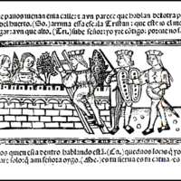 Engraving of act XIV from the Valencia edition (1514)