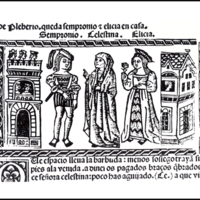 Engraving of act III from the Valencia edition (1514)